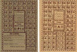 Lot De 230 Feuilles Entières Tickets De Rationnement Feuille Ticket De Rationnement Guerre 39 45 Ww2 - 1939-45