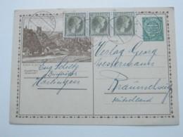 1928 , Bildganzsache Aus Harlange - Entiers Postaux