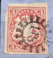 ALLEMAGNE ! Timbre Ancien De BAVIÈRE De 1867 N°16 - Bavaria