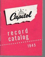 Catalogue De Disques CAPITOL 1945 (PPP16227) - Werbung