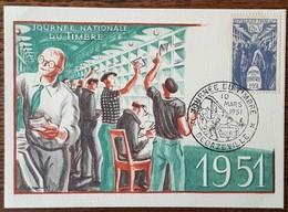 CM 1951 - YT N°879 - JOURNEE DU TIMBRE - DECAZEVILLE - Maximum Cards