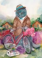 Cat Katze Chat Poet's Soul Artist Plovrtckaya Russia - Gatti