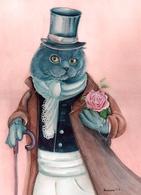 Cat Katze Chat Sir Artist Plovrtckaya Russia - Gatti