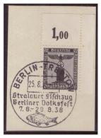 Dt-Reich (007163) Sonderstempel Auf Briefstück MNR D144 Eckrand, Berlin-Treptow, Strelauer Fischzug, Berliner Volksfest - Deutschland