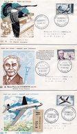 Lot 3 Enveloppes Premier Jour 1956-1957 - FDC