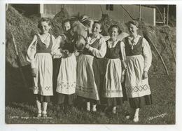 Norvège Norge - Nasjonaldrakter (jeunes Filles Cheval Ferme Costume Paysan Folklore) Cp Vierge - Norvège