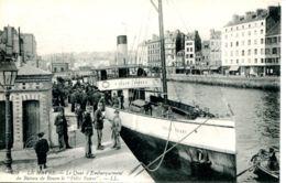 """N°67679 -cpa Le Havre -quai D'embarquement Du Bateau De Rouen """"Félix Faure"""" - Bateaux"""