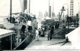 N°67680 -cpa Le Havre -quai D'embarquement Du Bateau De Trouville- - Bateaux