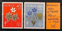 NB - [815105]Norvège 1960 - N° 396/97,  Fleurs, Natures - Végétaux