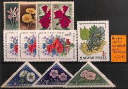 NB - [815167]Hongrie 1958-61 - Lot **/mnh Dont Meilleurs, Fleurs, Nature - Végétaux