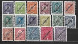 AUTRICHE 1918 - 1ere République - Série In Complète ** - Cote YT  : 49 Euros - 1918-1945 1. Republik