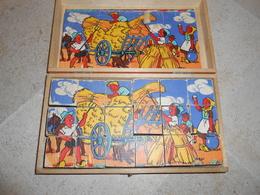 Boîte Ancienne De Cubes - 18 Cubes - 1956 - - Jouets Anciens