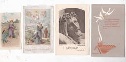 Lot De 4 Images Religieuses Lot 3 - Santini