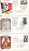 Lot 3 Enveloppes Premier Jour 1954 - FDC
