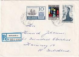 ISLANDE  LETTRE RECOMMANDEE DE REYKJAVIK - 1944-... Republique