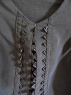 Corsage Ou Haut De Robe En Lainage  Noir   Manches Longues  Encolure Fantaisie  Petite Taille  Années 1925 Env - 1900-1940