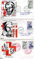 3 Enveloppes Premier Jour Croix Rouge  1958 - FDC