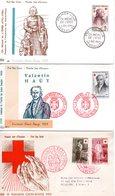 3 Enveloppes Premier Jour Croix Rouge  1956-1959 - FDC