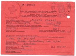 Kaart Rood Kruis - Gent - Oorlogsslachtoffer Soenen Edward - Artillerie Bombardement 11 Sept 1944 - Documents