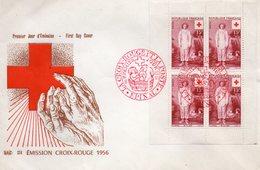 Enveloppe Premier Jour Croix Rouge  1956 - FDC
