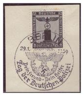 Dt-Reich (007170) Sonderstempel Auf Briefstück, Berlin; Tag Der Deutschen Polizei, Dein Freund- Dein Helfer, Gestempelt - Deutschland