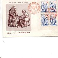 Enveloppe Premier Jour Croix Rouge  1957 - FDC