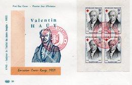 Enveloppe Premier Jour Croix Rouge  1959 - FDC