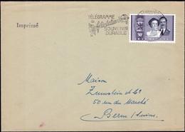 1953 Lettre Cachtet Spécial:Télégramme De Félicitations Souvenir Durable, Michel:505  80c 2Scans - Luxembourg