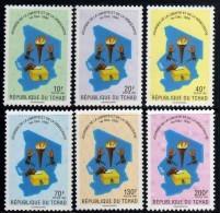 Tchad N° 520 / 25  XX Journée De La Liberté Et De La Démocratie , Les 6 Valeurs Sans Charnière, TB - Tchad (1960-...)