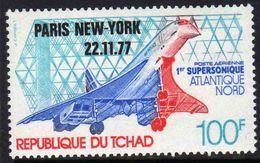 Tchad PA N° 216 XX  1er Vol Commercial De Concorde Paris-New York Sans Charnière, T.B - Tchad (1960-...)