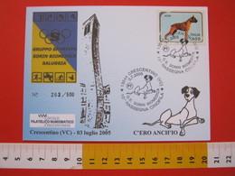 A.03 ITALIA ANNULLO - 2005 CRESCENTINO VERCELLI 10^ RASSEGNA CINOFILA G.S. SORIN BIOMEDICA ALANO MAXIMUM - Cani
