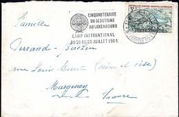 1964,Lettre Cachet Spécial Cinquantenaire Du Scoutisme Au Luxembourg, Michel:694  3F - Luxembourg