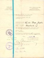 Oorlog Guerre - Demobilisatiebureel Stad Gent - Belgisch Soldaat Van Der Krap Joseph - 9 Aug. 1940 - Documents