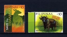 Filippine Philippines Philippinen Pilipinas 2013 Save The TAMARAW, Set 10p. X 2 Singles - MNH** (see Photo) - Philippines