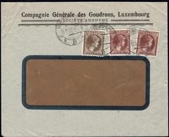 1932 Lettre Commerciale Compagnie Générale Des Goudrons, Luxembourg, Michel:2x171,189 - Lettres & Documents