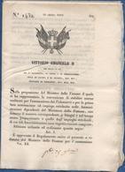 ITALIE-Circulaire De Vittorio Emanuele II  Du 28 10 1852-pour L'admission Des éléves Au Ministère Des Finances -20 Pages - Décrets & Lois