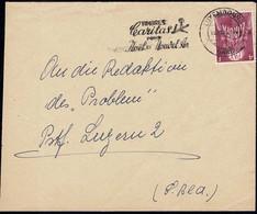 1957 Cachet Spécial: Timbres Caritas Pour Noël Nouvel An, Michel:574 Pourpre  2Scans - Lettres & Documents