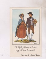 CARTE NON POSTALE ILLUSTREE JEAN DROIT, VIEILLES PROVINCES DE FRANCE, LE BOURBONNAIS - Droit