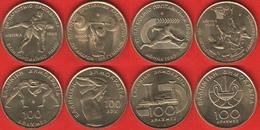 """Greece Set Of 4 Coins: 100 Drachmes 1997-1999 """"Sport"""" UNC - Grèce"""