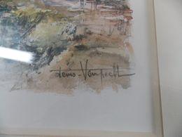Denis-VANPECHT-Aquarelle-sur-Papier-PARIS-Le-Pont-ALEXANDRE-III-Tableau-Peinture  Denis - Aquarelles