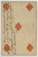 Carte à Jouer XVIIIe De Jean Dodat (Lyon , Cartier Actif De 1700 à 1732). 5 De Carreau . - Cartes à Jouer Classiques