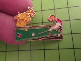 713a Pins Pin's / Rare & De Belle Qualité  THEME : SPORTS / DEUX CHIENS JOUANT AU BILLARD - Billiards
