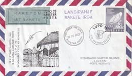YOUGOSLAVIE 1975 LETTRE PAR POSTE FUSEE DE HRASNICA - 1945-1992 République Fédérative Populaire De Yougoslavie