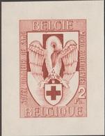 Belgique 1956 Y&T 986. Épreuve De La Gravure Sur Papier Gommé. Soyez Donneur De Sang. Croix-Rouge, Pélican - Medicina