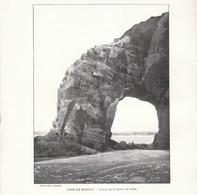 1901 - Phototypie - Crozon (Finistère) - La Percée De La Pointe De Gador à Morgat - FRANCO DE PORT - Vieux Papiers