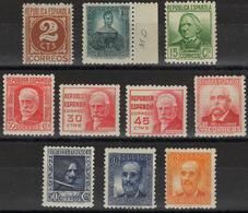 España 1936-38. Edifil 731/40** - Cat. 2016: 42€ - Cifras Y Personajes - 1931-50 Nuevos & Fijasellos