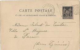 Flamme DRAPEAU PARIS EXPOSITION UNIVERSELLE 1900 SAGE 10c - Mechanical Postmarks (Advertisement)