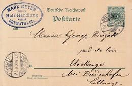 EP Michel P 36 Obl BRUMATH / * * *  Du 20.5.00 Adressée à Uckabge - Poststempel (Briefe)