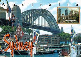 1 AK Australien * Sydney Harbour Bridge - Inset: Historic Rocks Area * - Sydney