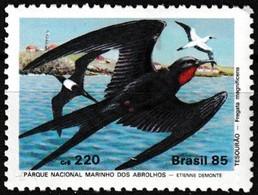 Timbre-poste Gommé Neuf** - Parque Nacional Marinho Dos Abrolhos Fregata Magnificens - N° 1735 (Yvert) - Brésil 1985 - Brésil